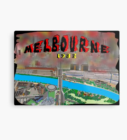 Melbourne on Fire Metal Print