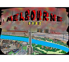 Melbourne on Fire Photographic Print