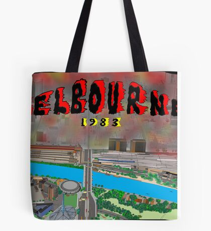 Melbourne on Fire Tote Bag