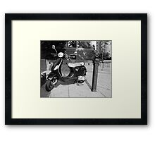 Black V Framed Print