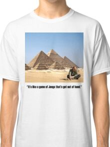 "Karl Pilkington - ""It's like a game of Jenga that's got out of hand"" Classic T-Shirt"