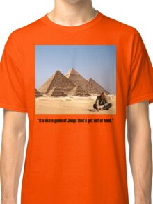 """Karl Pilkington - """"It's like a game of Jenga that's got out of hand"""" Classic T-Shirt"""