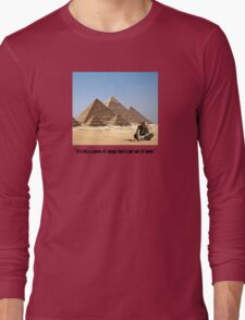 """Karl Pilkington - """"It's like a game of Jenga that's got out of hand"""" Long Sleeve T-Shirt"""