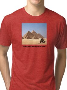 "Karl Pilkington - ""It's like a game of Jenga that's got out of hand"" Tri-blend T-Shirt"