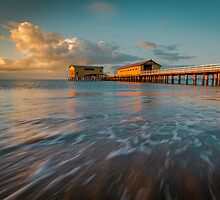 A Cool Winter's Morning Sunrise At Queenscliff by Julie Begg