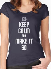 Keep Calm and Make It So Women's Fitted Scoop T-Shirt