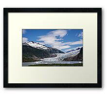 The Mendenhall Glacier on a Blue Sky Day, Alaska Framed Print