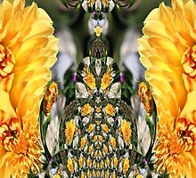 A fractal of Dahlias, pencil skirt (check out the side view) etc. design by Dennis Melling