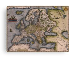 Europe Map 1572 Canvas Print