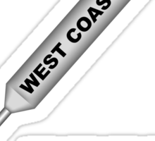 West Coast Rap 1B Sticker