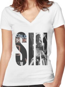 Cold Beer Women's Fitted V-Neck T-Shirt