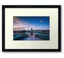 St Paul from millenium bridge Framed Print