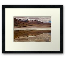 Laguna Hedionda with Mountains Framed Print
