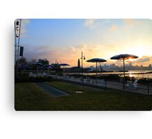 Sunrise Taken From Jersey City Beachfront ! Canvas Print