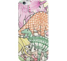 Patterned Dinosaurs iPhone Case/Skin