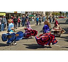 Eastern Dance Street Performers Photographic Print
