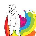 Rainbow Bear by Clair C
