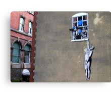 Banksy's a Blast! Canvas Print