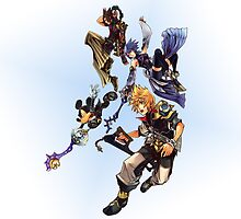 Kingdom Hearts Birth By Sleep Characters by mnzero