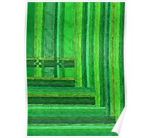 Abstract Art Study Greens Poster