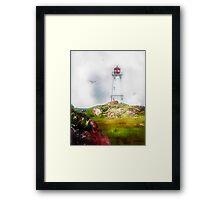 Morning Mist - Louisbourg Framed Print