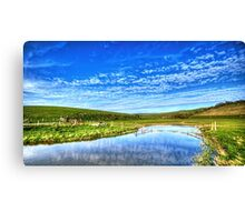 Cloudy day at seven sisters Canvas Print