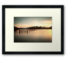 Derwent Water Sunset Framed Print