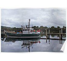 Boat - Strachan, Tasmania Poster