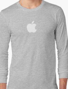 Apple Batman White Long Sleeve T-Shirt