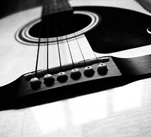 Black and White Guitar by godtomanydevils