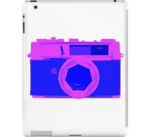YASHICA Illustration Pink & Blue iPad Case/Skin