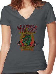 Leatherhead's Turtle Gumbo Women's Fitted V-Neck T-Shirt