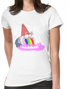 Puking Rainbows (no text) Womens Fitted T-Shirt