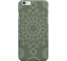 Monogram Pattern (D) in Deep Lichen iPhone Case/Skin