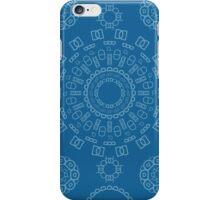 Monogram Pattern (D) in Mykonos iPhone Case/Skin