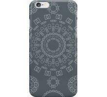 Monogram Pattern (D) in Turbulence iPhone Case/Skin
