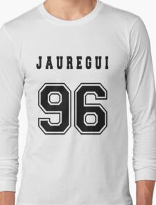 JAUREGUI - 96 // Black Text Long Sleeve T-Shirt