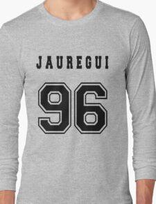 JAUREGUI - 96 // Black Text Long Sleeve T-Shirt