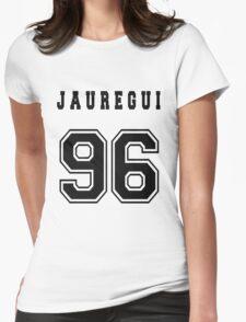JAUREGUI - 96 // Black Text Womens Fitted T-Shirt