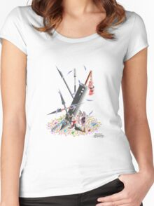 Final Fantasy VII Illustration. Women's Fitted Scoop T-Shirt