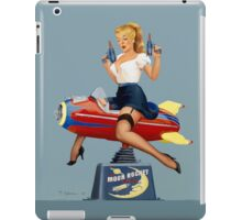 Moon Rocket Ride - Pin Up Girl iPad Case/Skin