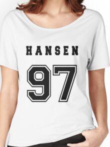 HANSEN - 97 // Black Text Women's Relaxed Fit T-Shirt