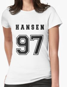 HANSEN - 97 // Black Text Womens Fitted T-Shirt