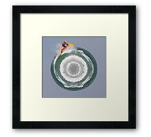 Waterski Planet Framed Print