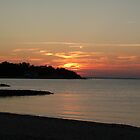 Stoney Beach Sunset by Anna Hassett