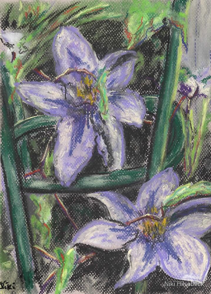 Trellis Blooms (pastel) by Niki Hilsabeck