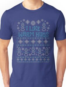 Snowman I Like Warm Hugs Quotes Unisex T-Shirt