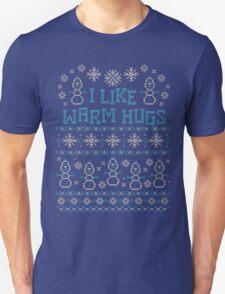 Snowman I Like Warm Hugs Quotes T-Shirt