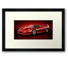 Ferrari F50 - Flare Framed Print