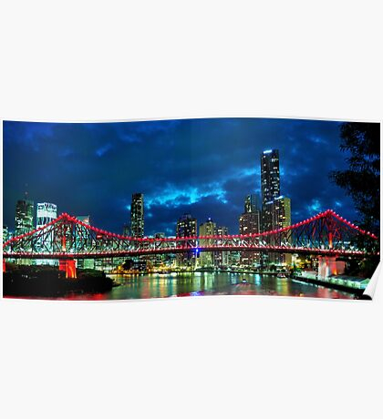 Story Bridge Red Poster